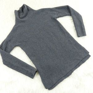 Banana Republic Gray Cashmere Cowl Neck Sweater
